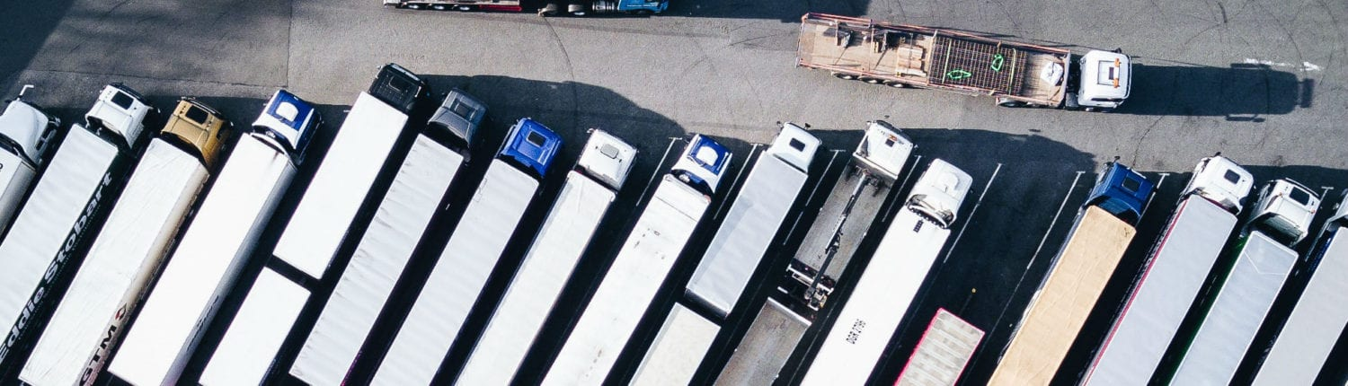 Lorry ariel view of infrastructure management